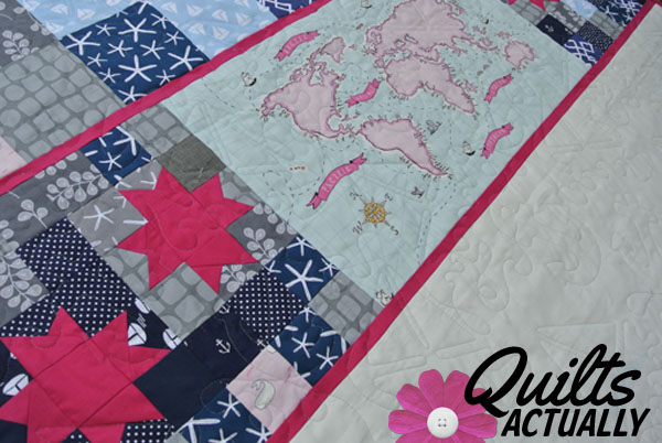 Machine Quilting on longarm