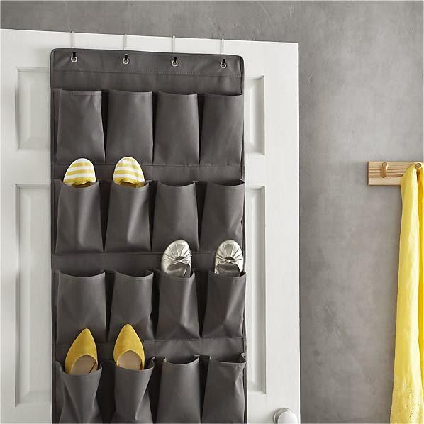 http://www.crateandbarrel.com/grey-over-the-door-shoe-bag/s378402