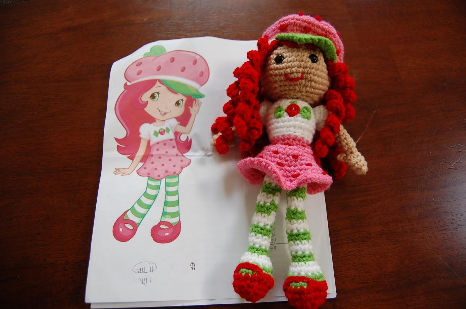 Amigurumi Doll Lalaloopsy Pattern : Roonie ranching sami s strawberry shortcake doll