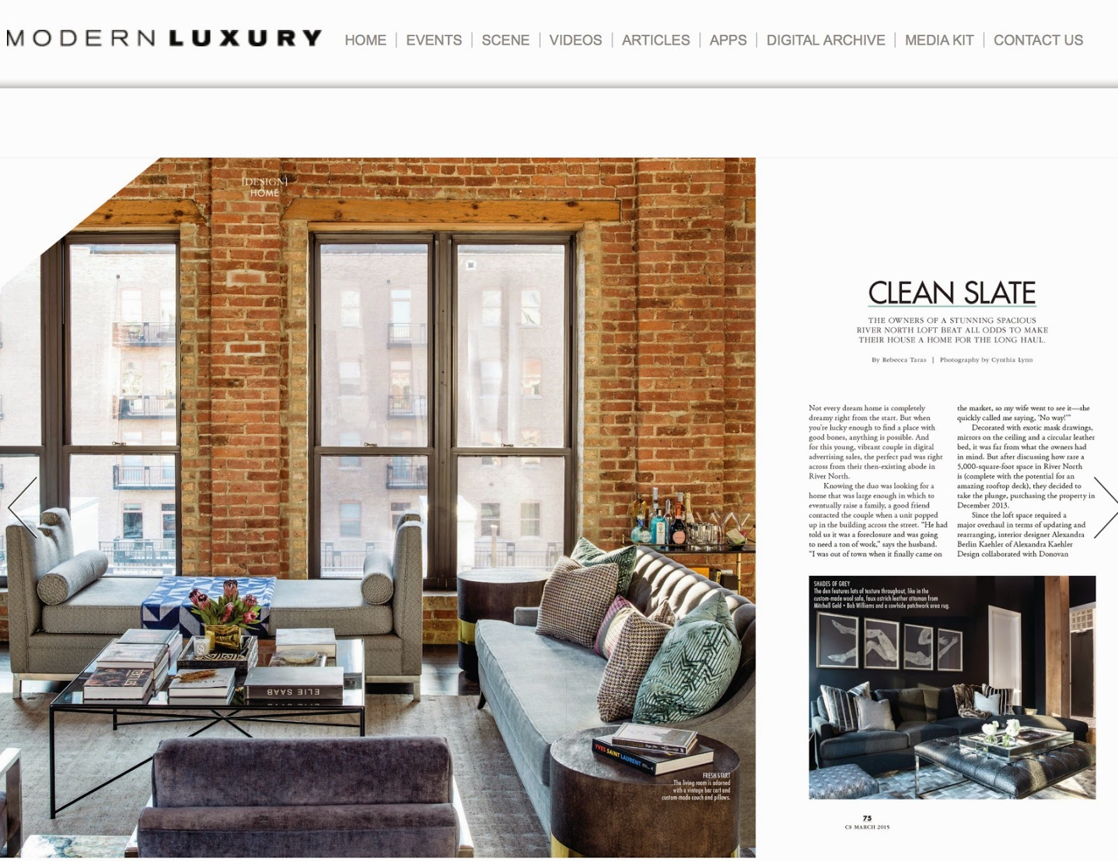 So Thrilled To Have Our Ida Daybed And Jaime Chairs Featured In CS Modern  Luxury. Designer Alexandra Kaehler Created An Amazing Space And We Are So  Happy To ...