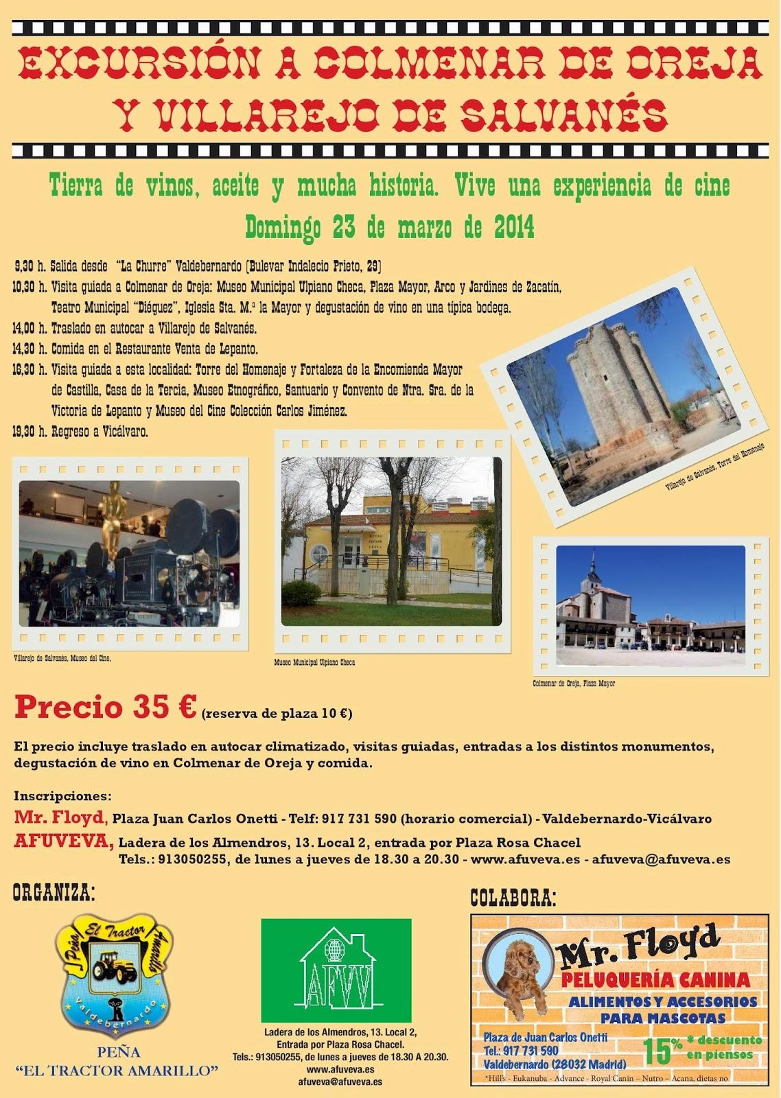 Excursión al Sureste de Madrid, el Tractor Amarillo, 23.03.14