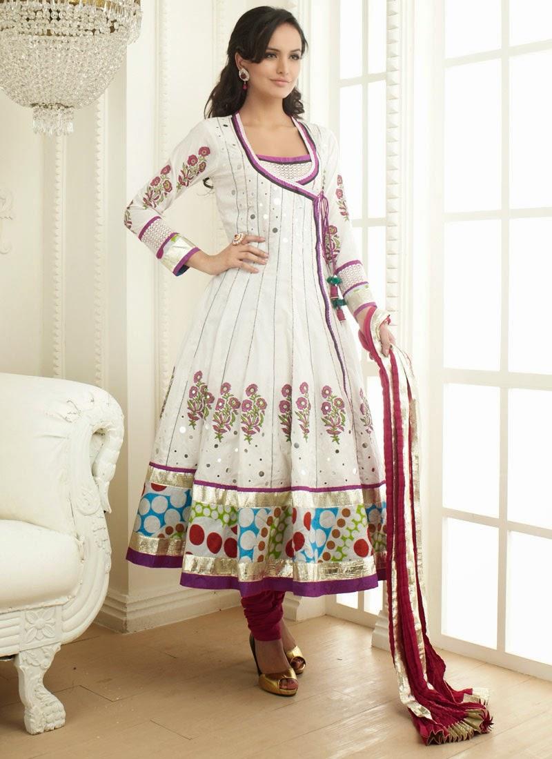 Angrakha Shalwar Kameez Suits 2015