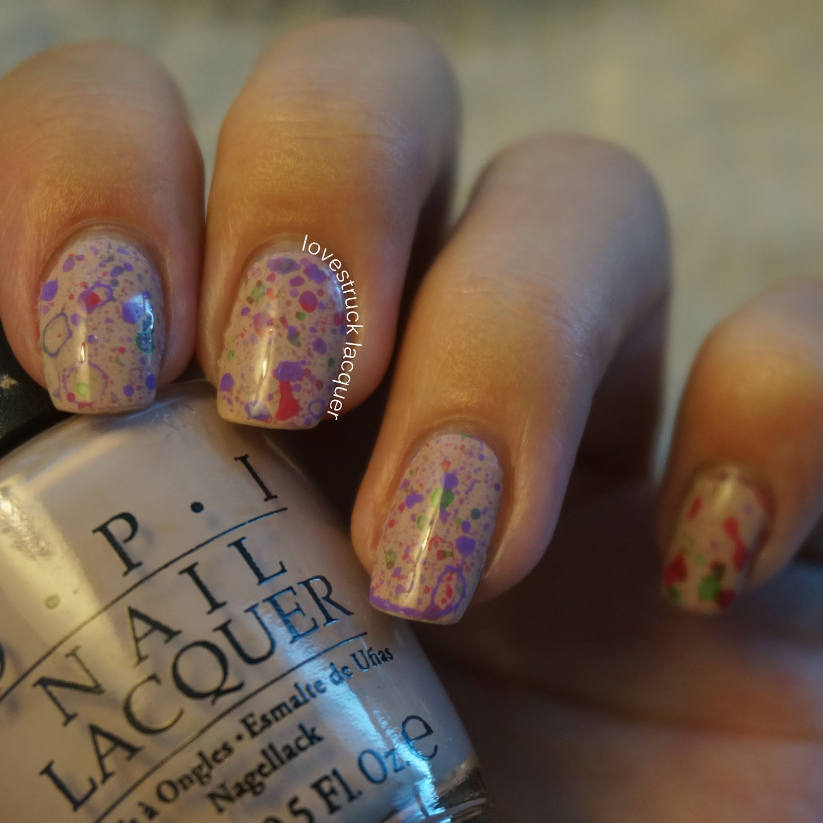 Color Splatter Nails Color Toothbrush Splatter