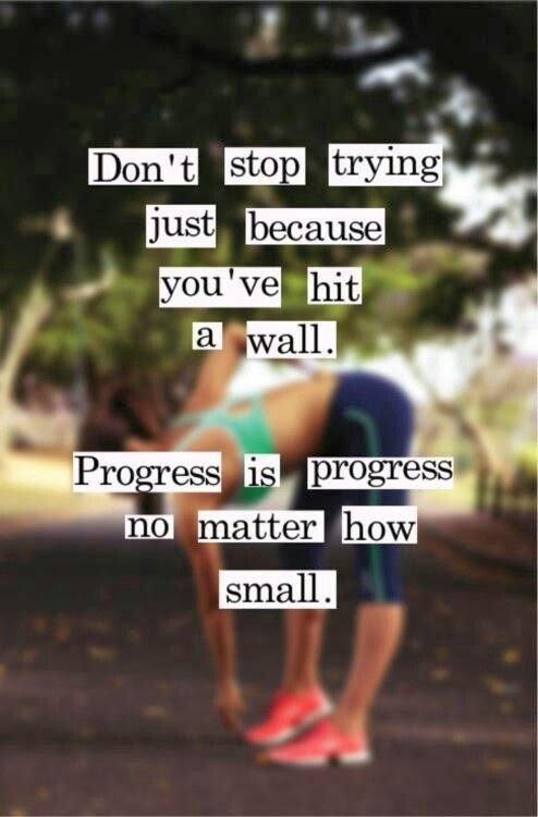 Doeblerghini Bunch:  Don't stop trying because you've hit a wall, progress is progress no matter how small