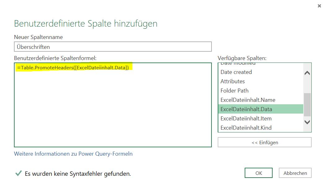 Power Query, mehrere strukturell gleiche Excel Dateien aus einem ...