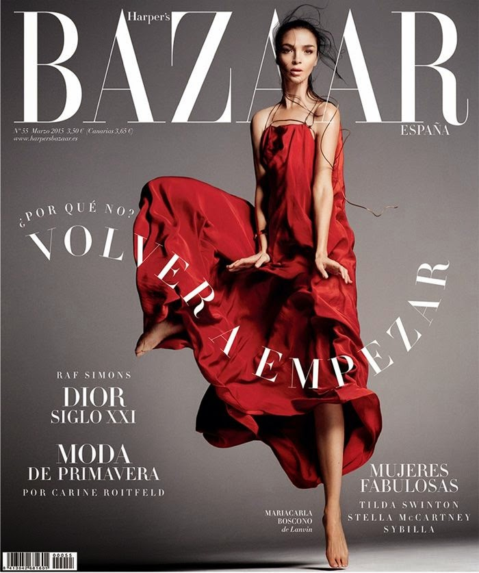 Model: Mariacarla Boscono by Txema Yeste for Harper's Bazaar Spain March 2015