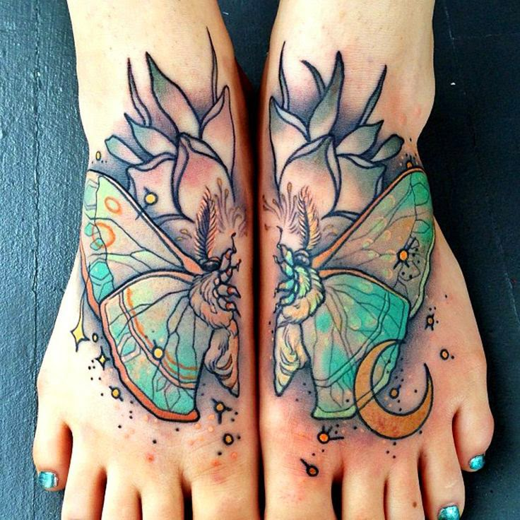 Butterfly Foot Tattoos