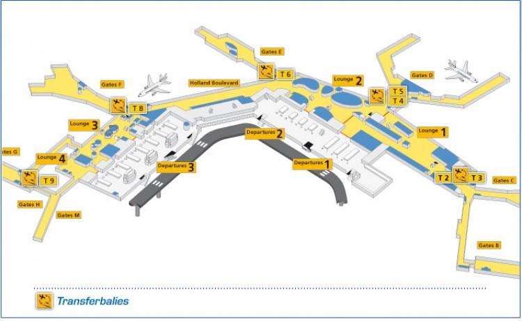 Аэропорт амстердама схипхол транзит схема