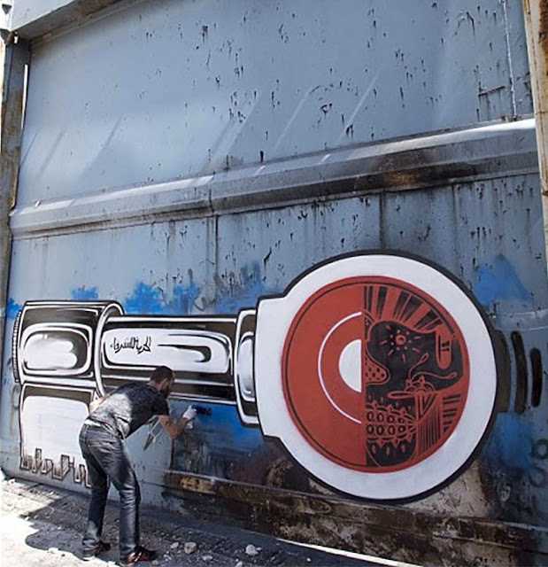 Street Art Duo How Nosm In Palestine Where They Painted Several New Pieces. 10