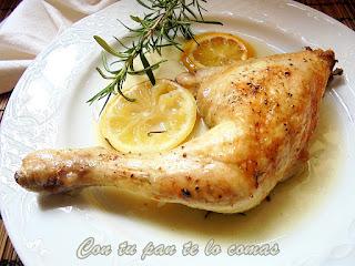 Pollo al romero y al limón