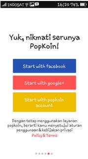 Cara Dapat Gratis Pulsa Gratis Dari Aplikasi Popkoin Untuk HP Android