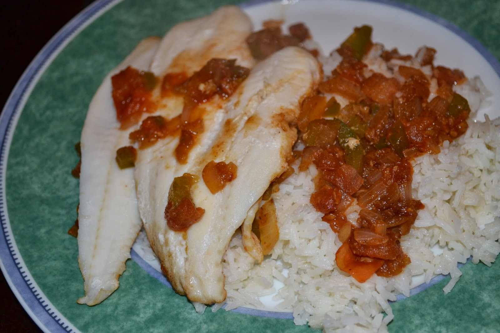 Al's Recipe Reviews: Skillet Cajun Spiced Flounder with Tomatoes