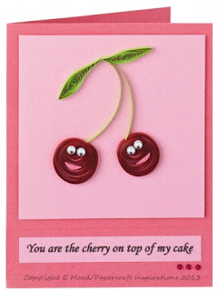 quilled cherries Elizabeth Moad