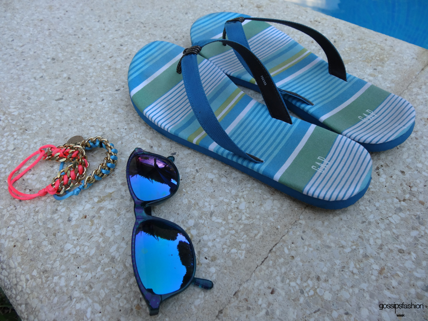 look en la piscina pool look