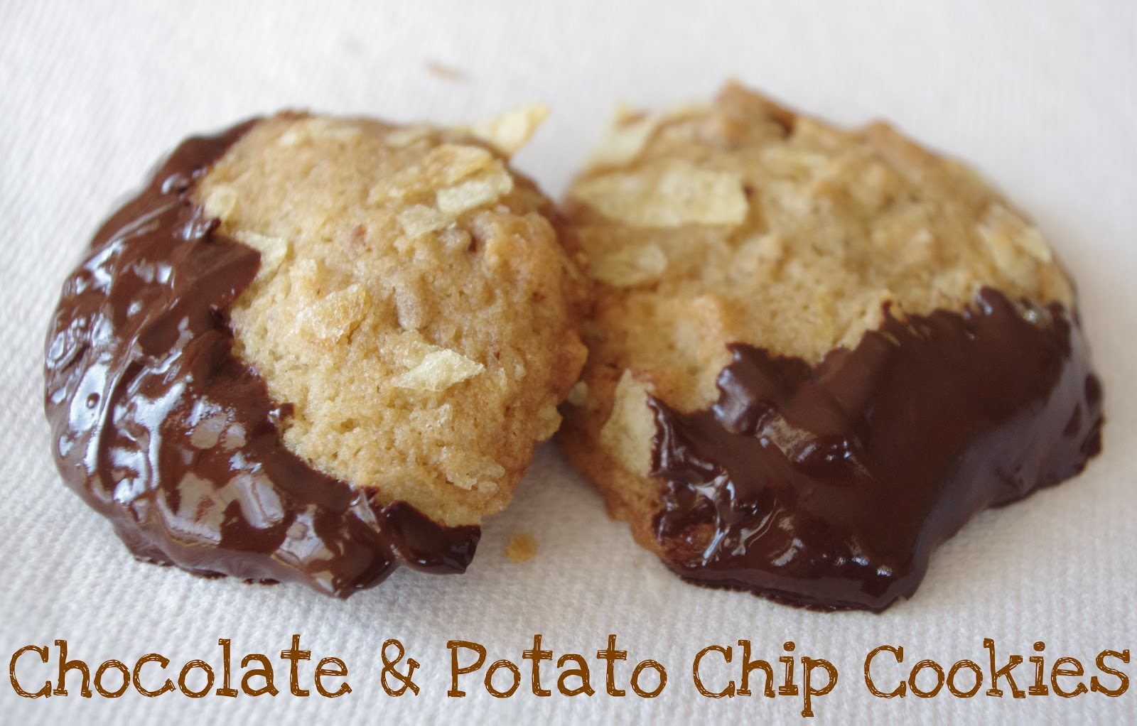 Little Kitchen, Lovely Food.: Chocolate & Potato Chip Cookies