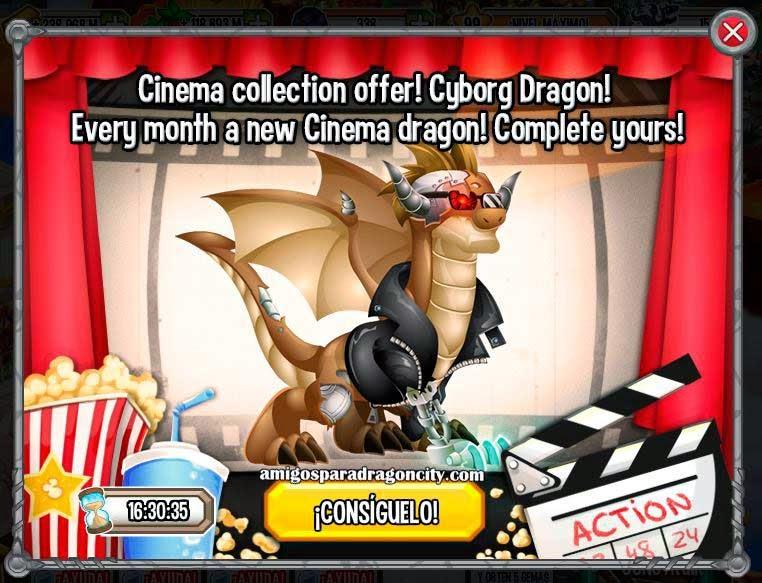 imagen de la oferta del dragon cyborg de dragon city