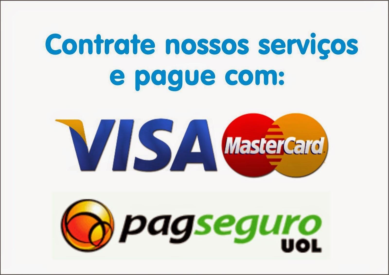 Pague com Visa ou Master