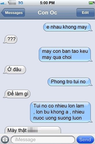 Cười lộn ruột với tin nhắn không dấu