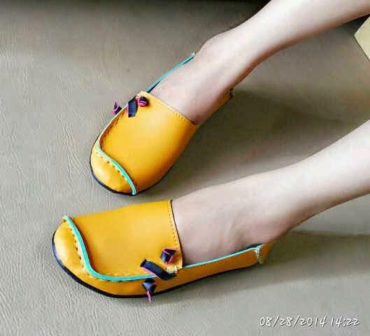 Sepatu Cewek Flat Sepatu Cewek Flat Pretty Shoes Yellow