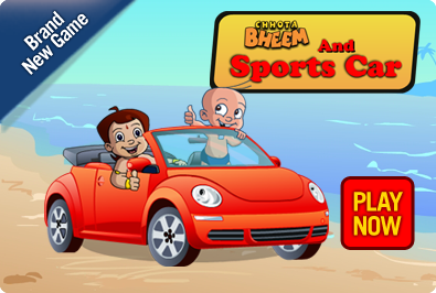 Chota Bheem and Sports Car