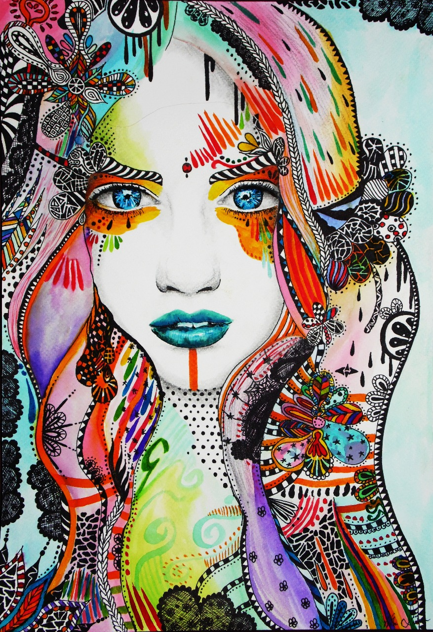 18-Andrea-Wéber-aka-Mandy-Candy-Paintings-A-Mirror-to-the-Artist-s-Emotions-www-designstack-co