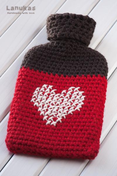 Lanukas funda para bolsa de agua caliente a crochet - Bolsa de agua caliente ...