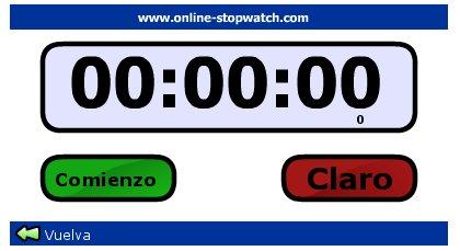 Cronómetro para lecturas.