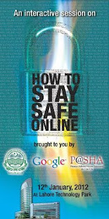 How to Stay Safe Online!, Stay Safe, Hacking, Anti Hacking, Ethical Hacking, Google, Google Trainings, Events Pakistan, Trainings in Lahore, P@SHA, PITB