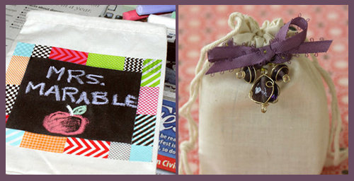 DIY Favor Bags - DIY Teacher Gift Bag and  DIY Wedding Favor Gift Bag