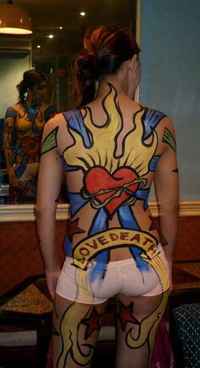 full-body paint girl girl