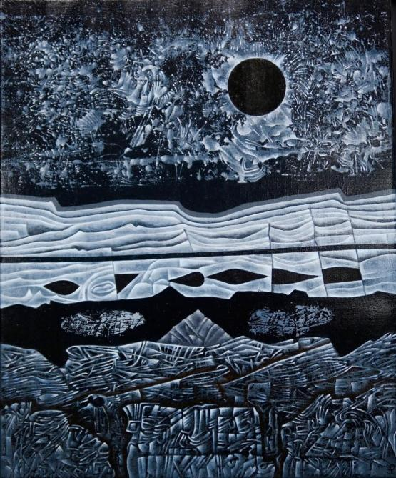 Jacques LACOMBLEZ, toile: source Galerie Quadri, Bruxelles