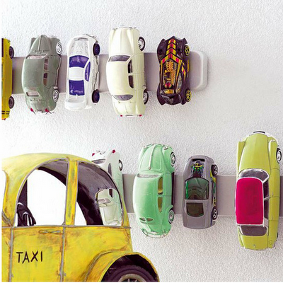 11 Ways to Organize with Magnets - for kids toy cars:: OrganizingMadeFun.com