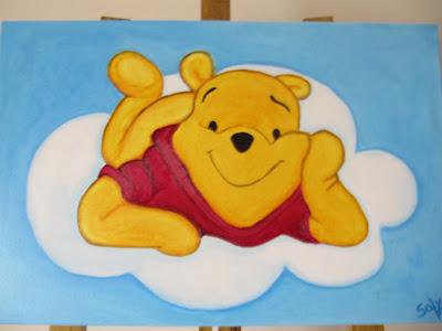 tela com winnie the pooh