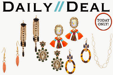 Today only: Your chance at 6 stunning pieces, each for under $15! You'll find a bevy of earrings fr