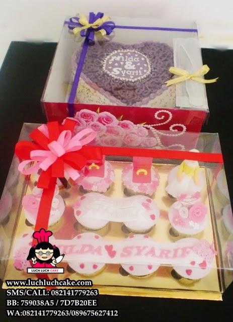 Cupcake dan kue tart Tunangan Pink Cantik Daerah Surabaya - Sidoarjo