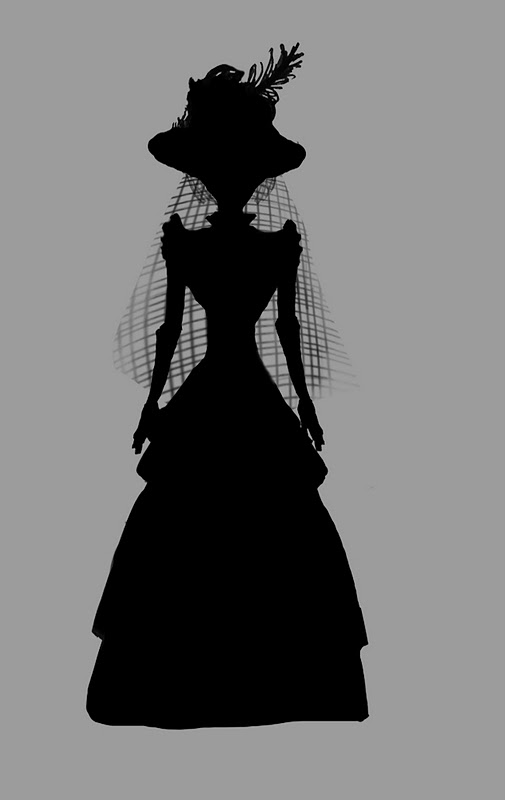 Ink Slinger Studios: Resolved Ghost Woman Silhouette