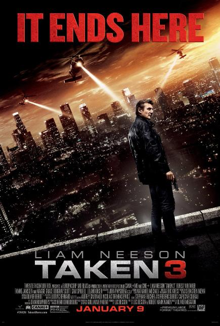 TAKEN 3 (2015) movie review by Glen Tripollo