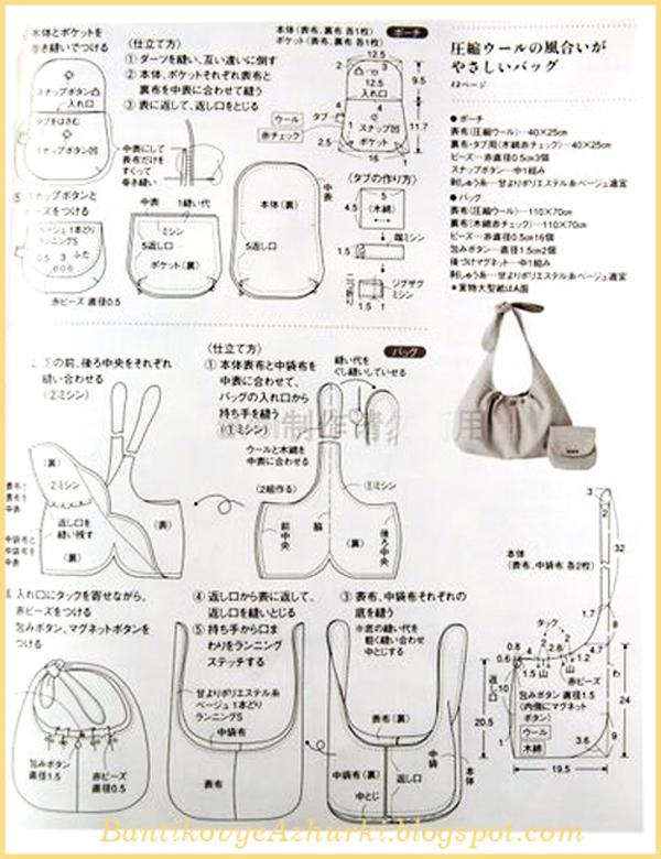 схема шитья сумки