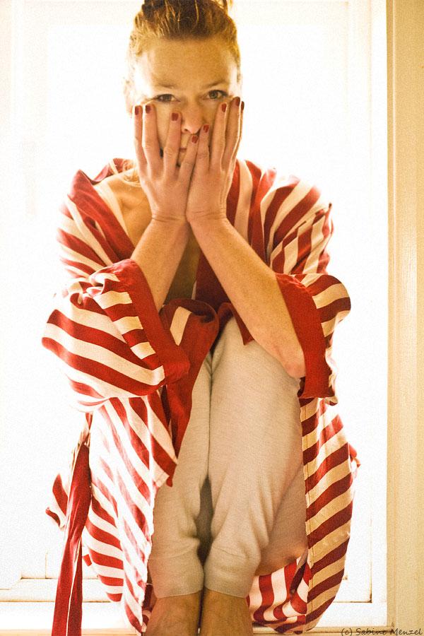 Psynopsis Vintage Striped Silk Robe by Zorn