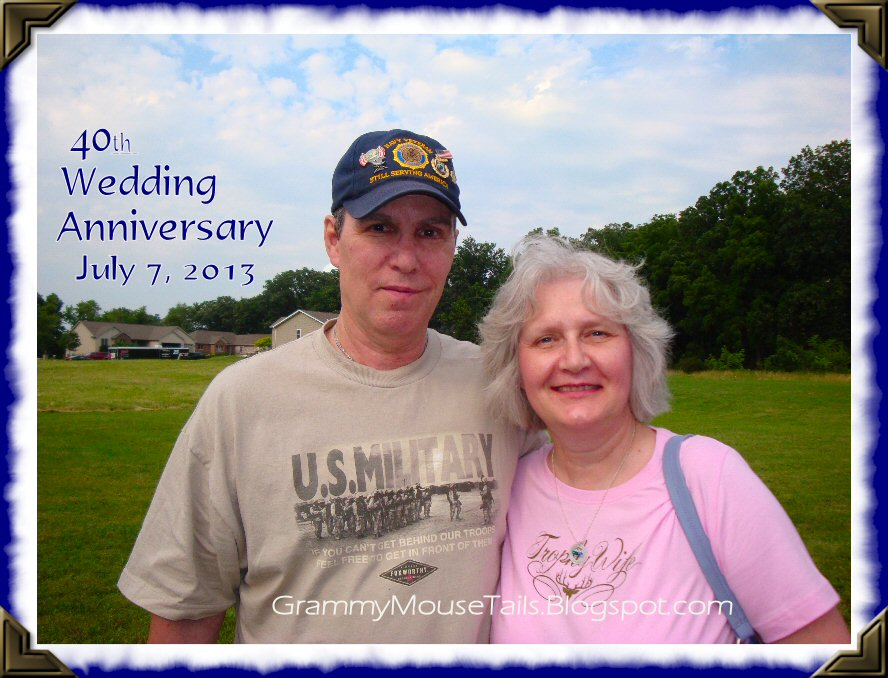 couple smiling on fortieth wedding anniversary photo image