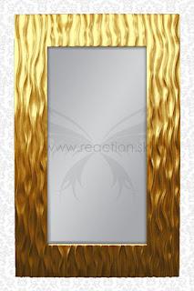 vysoke zrkadla na stenu v zlatej farbe, zlate zrkadlo na stenu, zavesne zrkadla