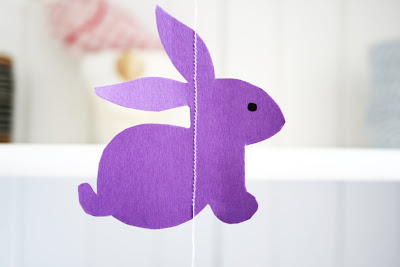 easter crafts: diy bunny garland