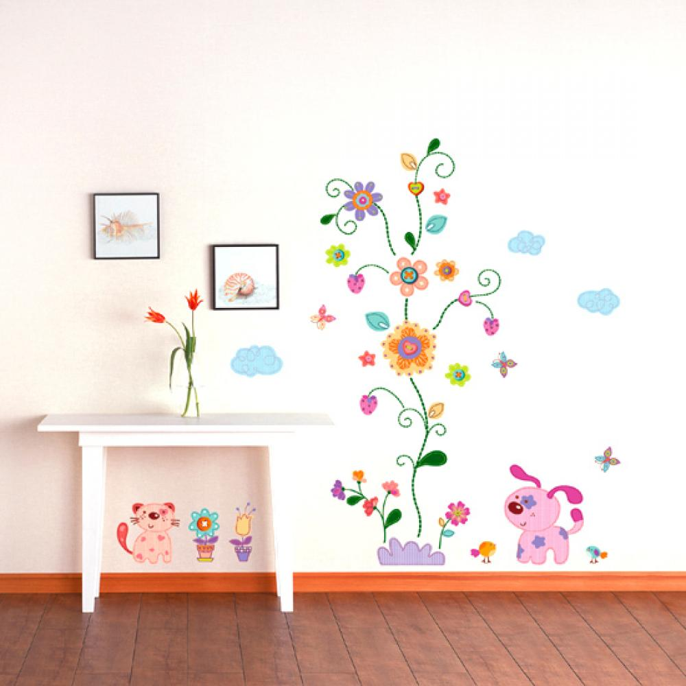 Childrens wall stickers wall decals home design for Childrens room mural