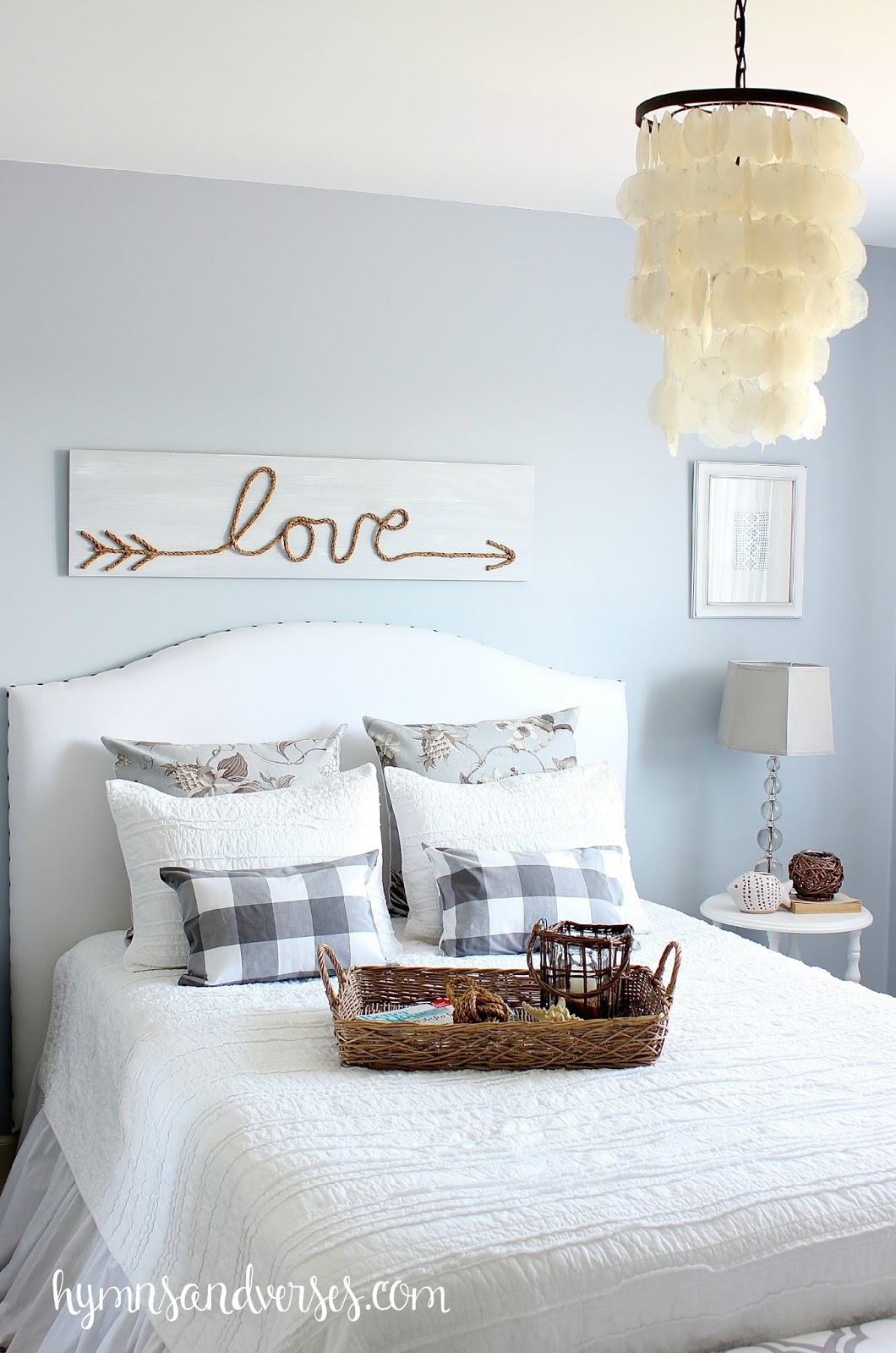 Diy jute rope love sign hymns and verses Cute bedroom wall ideas