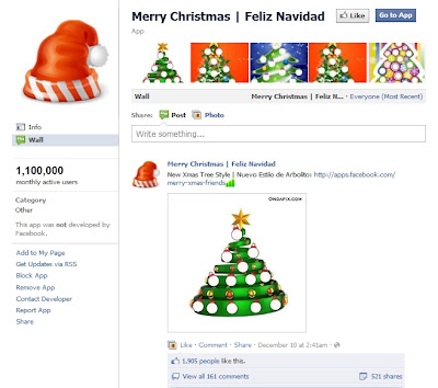 merry christmas facebook christmas app