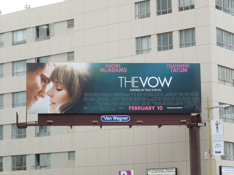 The Vow movie billboard