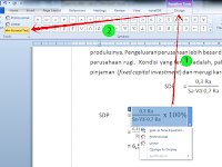 Merubah format font pada Equation di Microsoft Office Word 2010