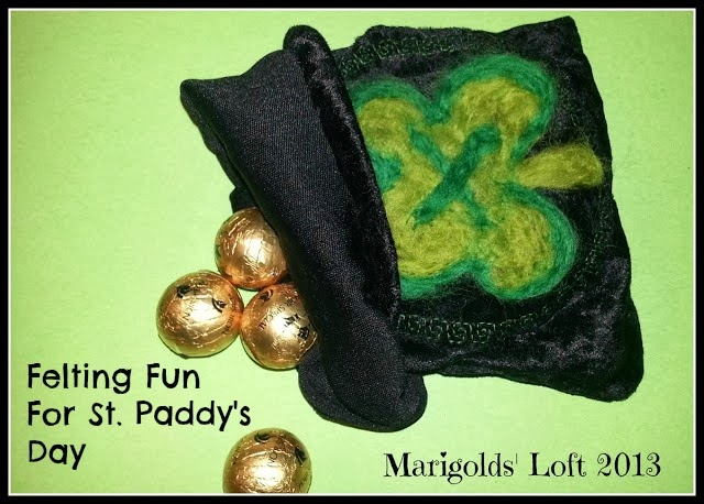 Felting Fun for St. Paddy's Day
