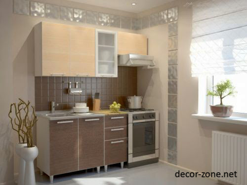 modern kitchen furniture,  kitchen furniture in one row for small kitchen designs