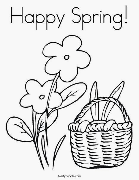 spring coloring pages 2014 - photo#33